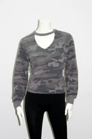 Long Sleeves Camouflage Top RD – 69F027S-P