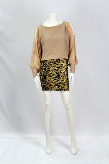 Long Sleeves Pencil Bottom Dress KAN – DR8373-A
