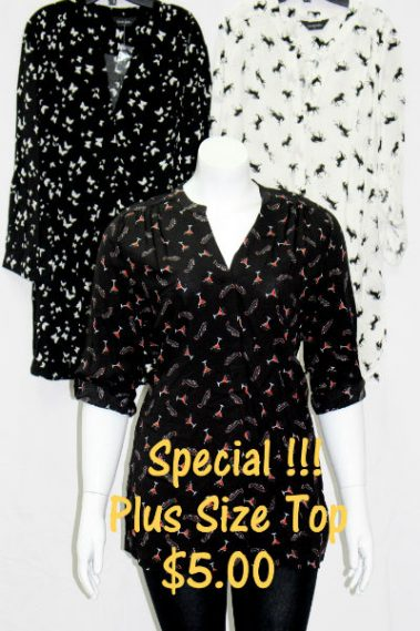 Roll-Up Long Sleeves Plus Size Top MAN – 5557-2-15