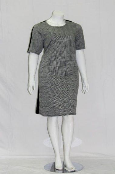 Plus Size Plaid Dress  MAN – 413289-R