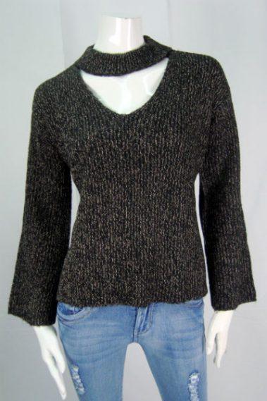 Chocker Neck Sweater RD – 69S967S-X