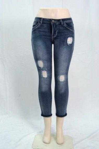 Lace Patch Ankle Jeans – S910P-FRT