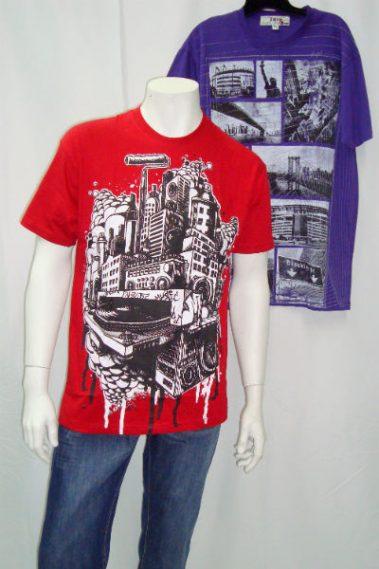 Crew Neck Printed Men's T-Shirt  CLV – YMI700252-S11T