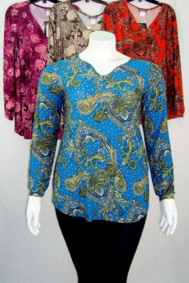 Long Sleeves Plus Size Printed Top KIM – 13233OS-7
