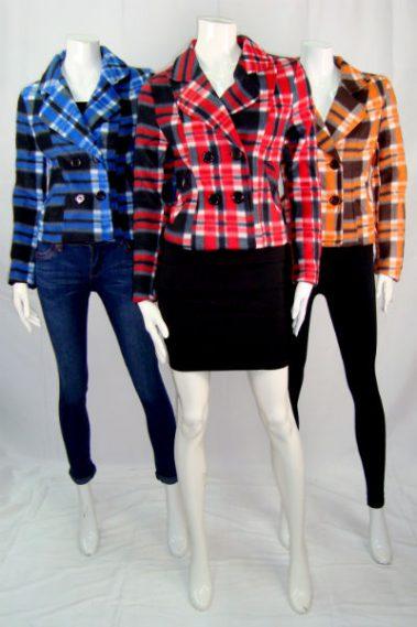 Fleece Checkered Jacket with Pockets MAG – J0010-S11B