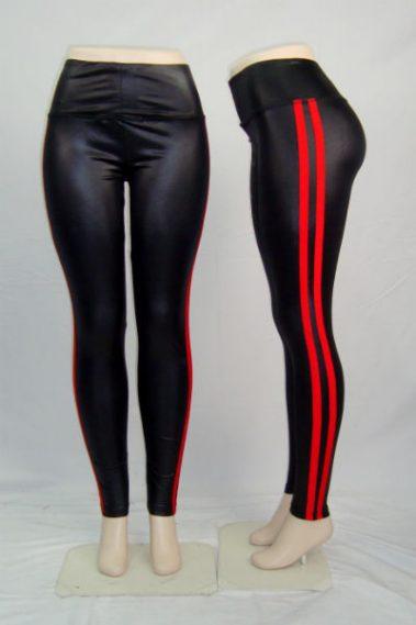 Side-Stripe Full Leggings RD – 28W102S-B