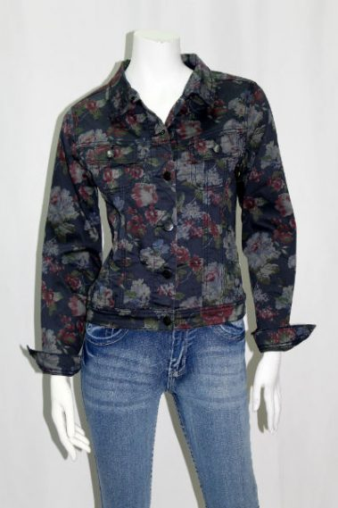 Floral Button Down Jacket with Pockets DSA – Gabrielle-S16B