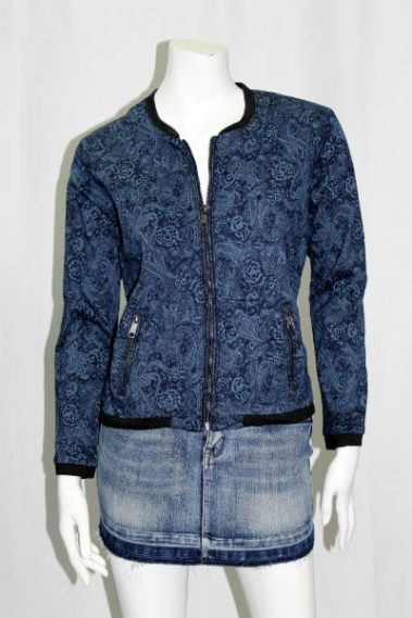 Zip-Up Printed Jacket with Pockets DSA – Lucy-S6B