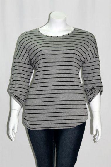 Plus Size Striped Top MAN – 5866S-8