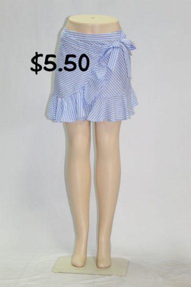 Ruffle Striped Skirt FAS – 6003-S13B