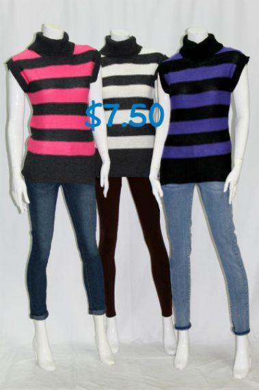 Turtle Neck Sleeveless Sweater 7LI – 8-S11B