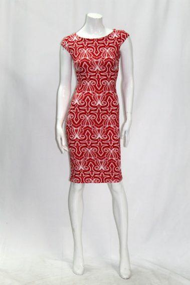 Bodycon Printed Dress EMB – D78/650-6
