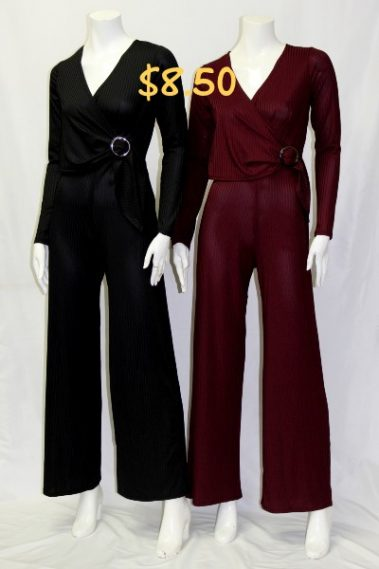 Long Sleeves V-Neck Jumpsuit TWI – 94027LD-9