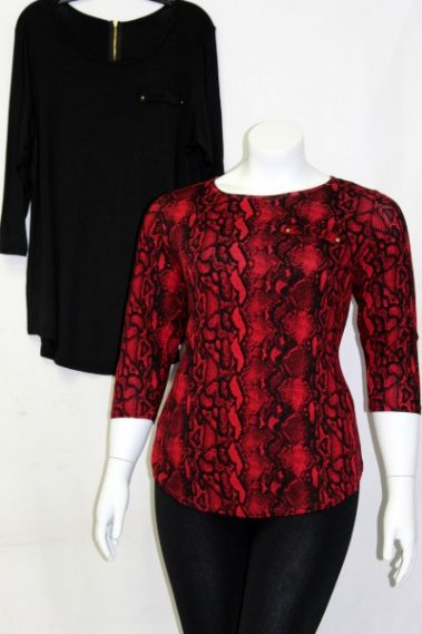 3/4 Sleeves Plus Size Top TWI – 91058-10