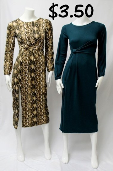 Long Sleeves Round Neck Dress TWI – 94015LD-8