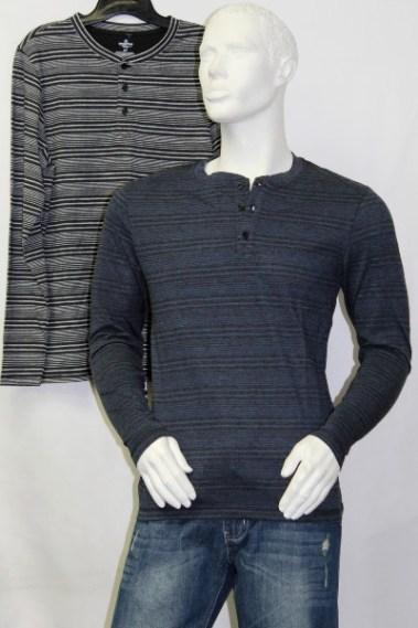 Striped Long Sleeves Men's Top CLV – IM900161-I