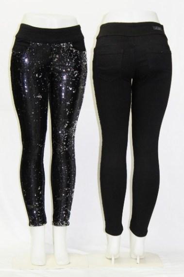 Sequins Front Pull-On Skinny Jeans DSA – Julia-SQU-S7B