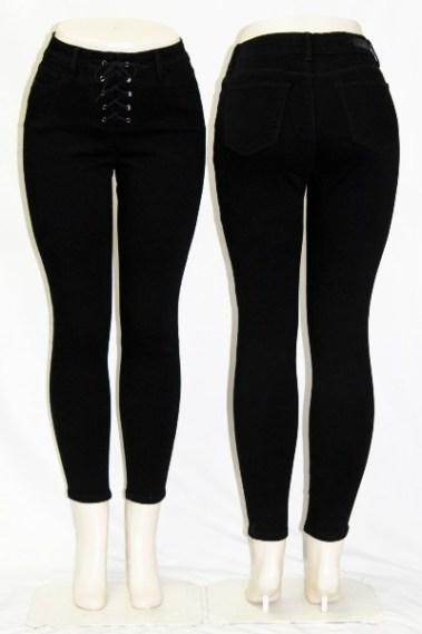 High-Rise Ankle Jeans DSA – Dahlia-BLK-S7B