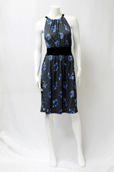 Polka-Dotted Floral Dress CLV – D13866-2