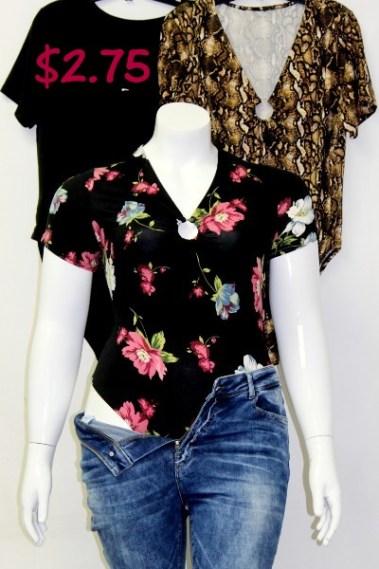 Short Sleeves Plus Size Bodysuit TWI – 91131-7