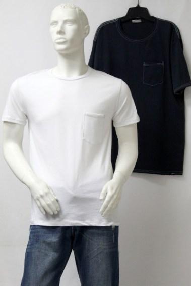 Crew Neck Men's T-Shirt with Front-Pocket AMZ – 133000-S10T