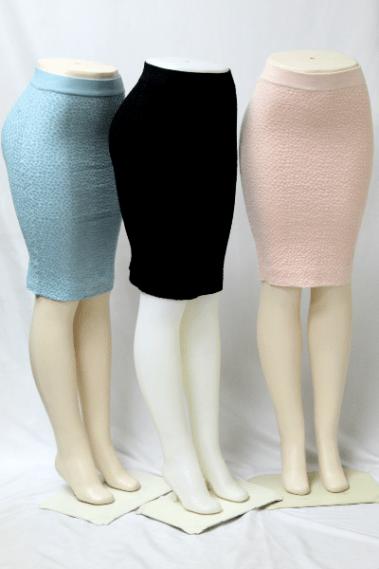 Stretchy Pencil Bubble Skirt BLK – LP6230-1-S9M