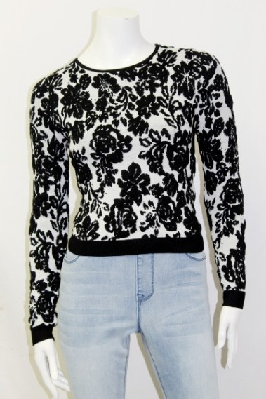 Floral Sweater BLK – LC62692-S9T